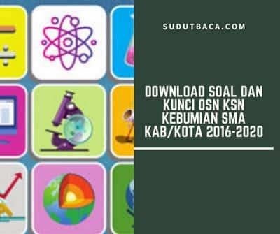 Download Soal Dan Kunci Osn Ksn Kebumian Sma Kab Kota 2016 2020 Sudut Baca
